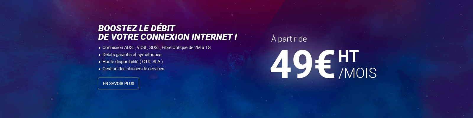 Ligne internet ADSL, VDSL, SDSL et Fibre