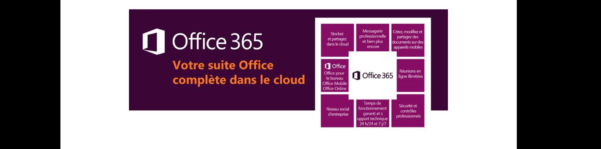Offre cloud office 365 - agenda et calendrier partagés